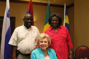 Kahindo's parents with Vonette Bright, the widow of Campus Crusade for Christ (CRU) founder, Bill Bright.